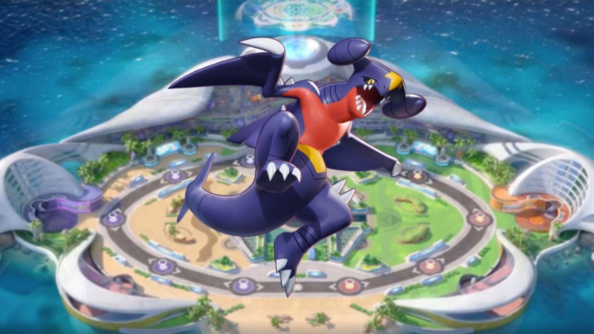 Garchomp's official render in Pokemon Unite (Image via The Pokemon Company)