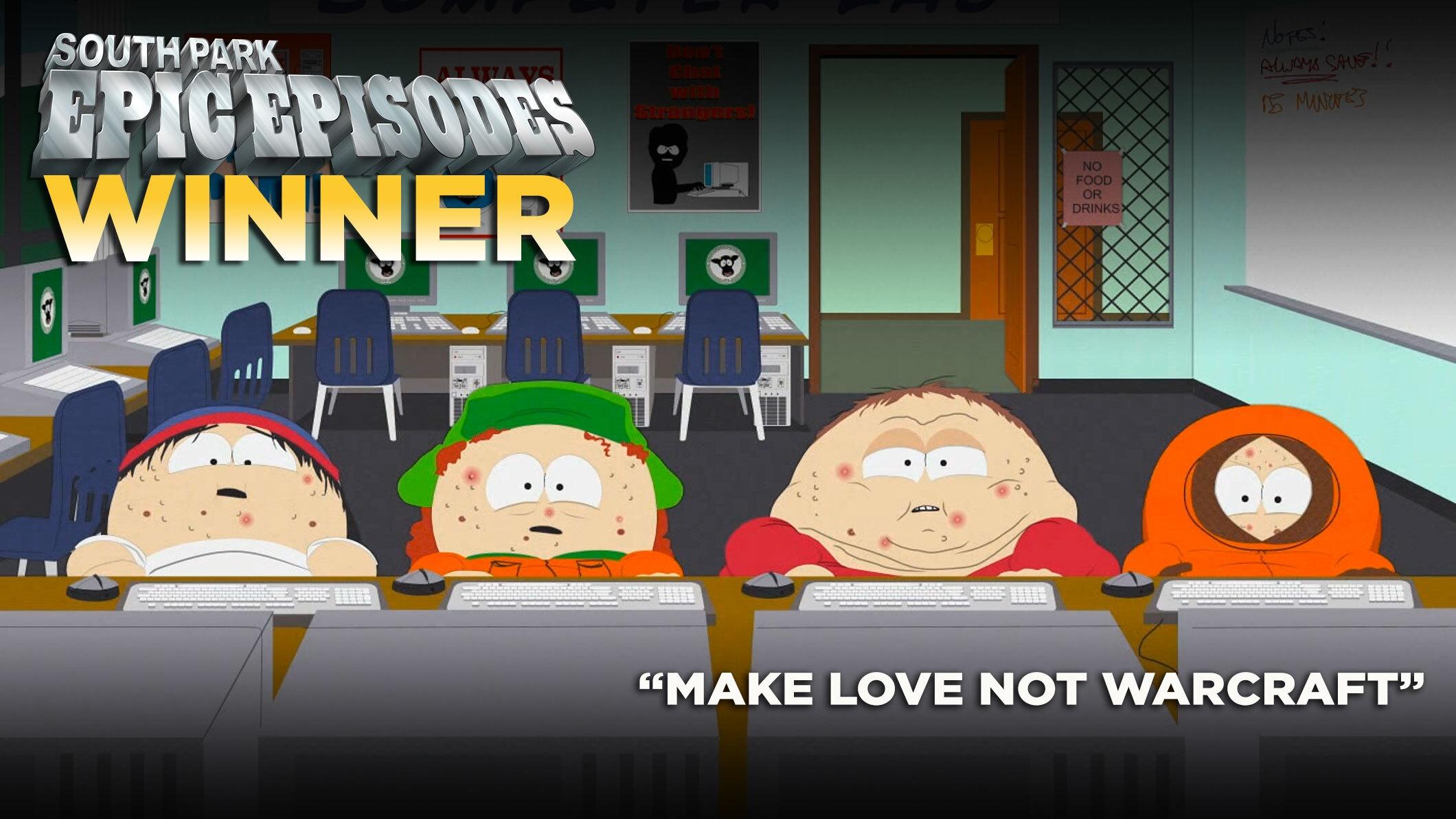 """""""Make Love, Not Warcraft"""" vinder South Parks episke episoder Showdown"""