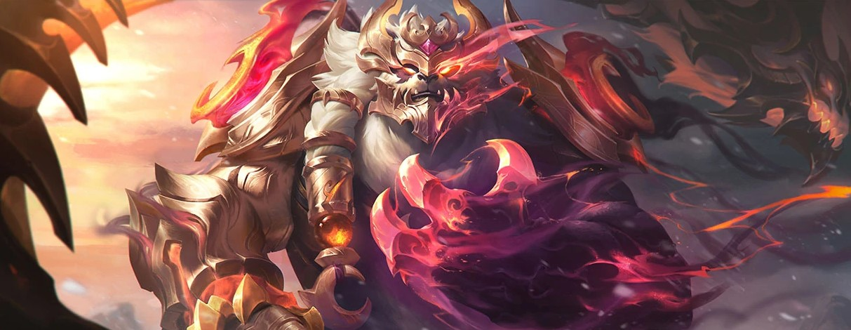 Volibear Prestige Duality Dragon (LoL splash)